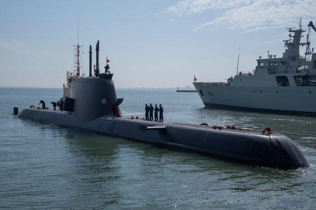 Portuguese Navy Type 214 submarine NRP Tridente