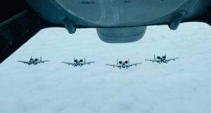 KC-10 Extender refueling A-10 Thunderbolts
