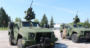 Slovenian JLTV with integrated armament station M153 Kongsberg