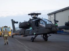 British Army AH-64E helicopter