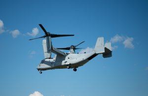 MV-22B Osprey flies with the Intrepid Tiger II (V)4 (IT II) EW payload