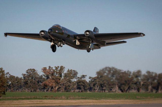 English Electric Canberra medium bomber flying again in Australia