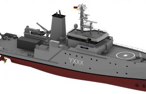 German instrumentation and test support ship