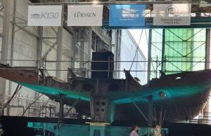 K130 corvettes Augsburg keel-laying ceremony