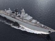 German Navy F123 with new mast after Saab upgrade