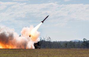 Patriot missile firing in Australia during Talisman Sabre