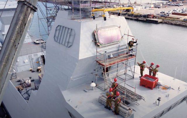 INS Magen with AESA radars installed