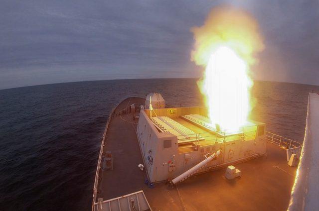 HMS Dragon Sea Viper launch