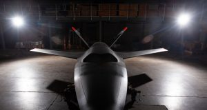 First XQ-58A Valkyrie attritable UAS prototype