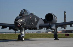 Black A-10 Thunderbolt