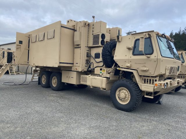 M1087 Expandable Van Shelter with the Command Post