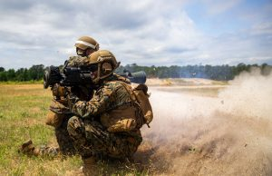 US marines using the new MAAWS system