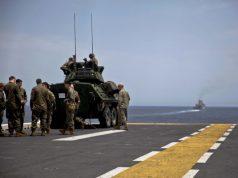 LAV on USS Iwo Jima
