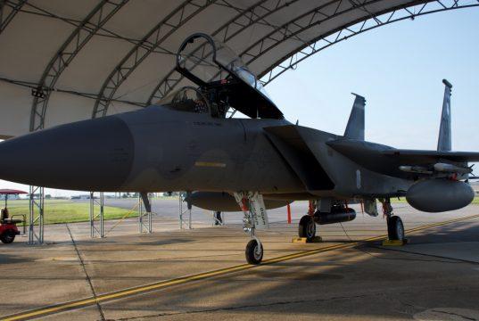 F-15C Eagle with Lockheed Martin's Legion Pod IRST Block 1.5 system