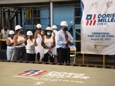 Official start of construction of USS Doris Miller