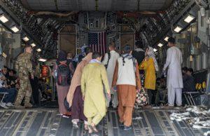 Evacuation operation at Hamid Karzai International Airport
