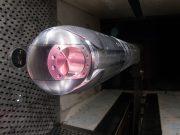 Laser weapon pod undergoing wind tunnel testing