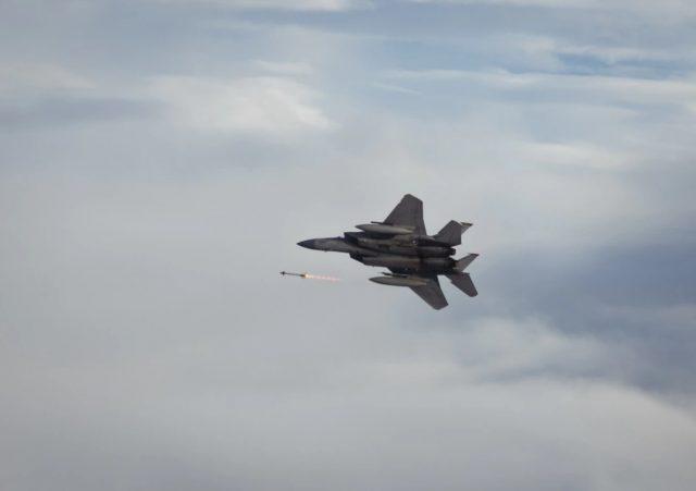 F-15C Eagle missile firing