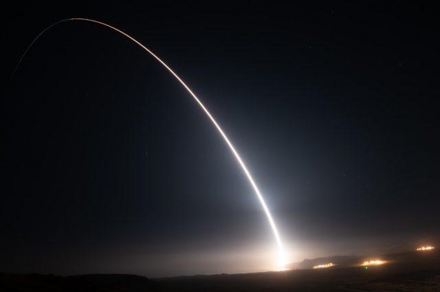Minuteman III ICBM launch in August 2021