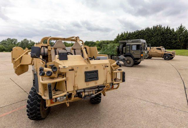 British Army battlefield vehicles electrification