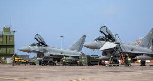 RAF Typhoons in Romania