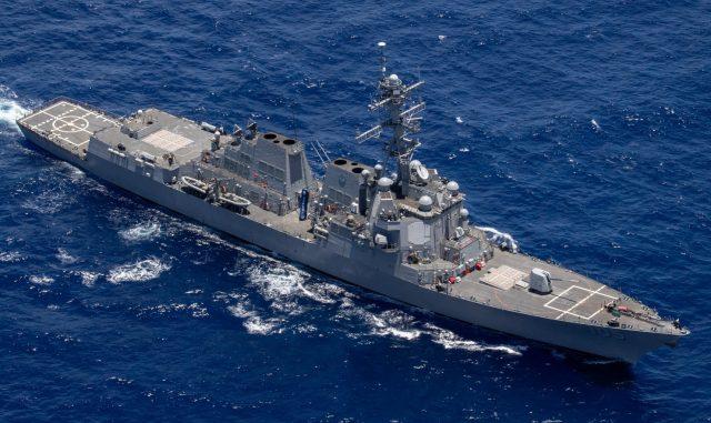 USS Dewey in the Pacific