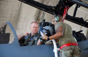 ACC commander flies Eagle II