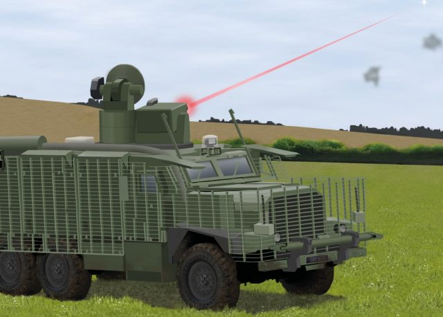 Wolfhound with an installed laser weapon system
