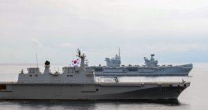 HMS Queen Elizabeth off South Korea