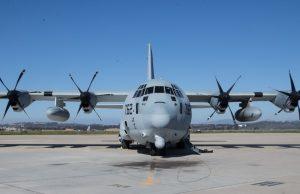 KC-130J Super Hercules with the Harvest Hawk kit