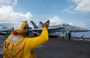 USS Carl Vinson (CVN 70) in South China Sea with F-35C