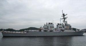 USS John S. McCain departing Japan after 24 years