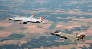 First unmanned aerial refueling between F-35C and MQ-25