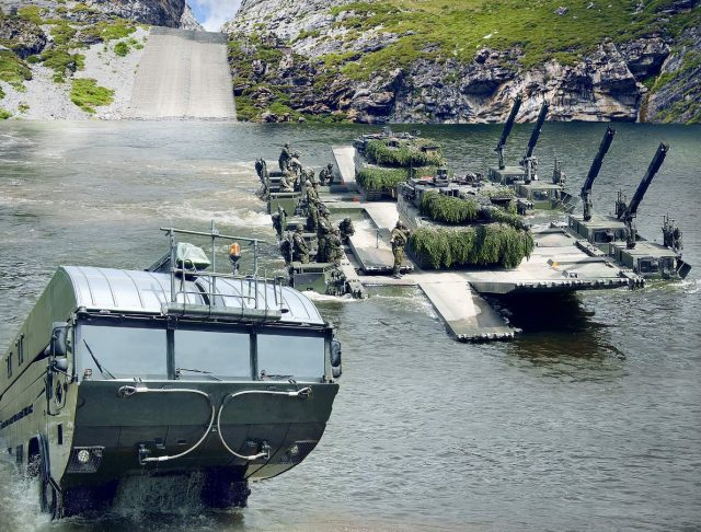 Latvian M3 Amphibious Bridge and Ferry System