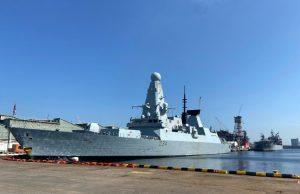 HMS Diamond in Singapore during HMS Queen Elizabeth maiden deployment