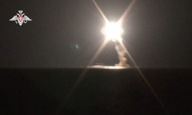 Severodvinsk launching Zircon missile