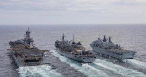US, Royal Navy RAS maneuver