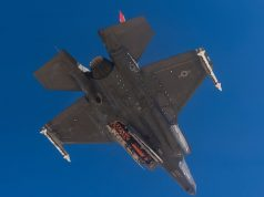 F-35 with a JSM in the internal bay