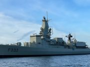 NRP Bartolomeo Dias arriving in Lisbon after mid-life overhaul