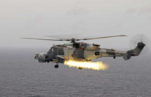 Royal Navy Martlet missile firing