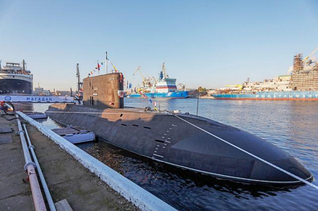 Kilo-class submarine Magadan commissioning ceremony
