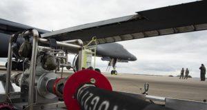 B-1B refueling at Spangdahlem