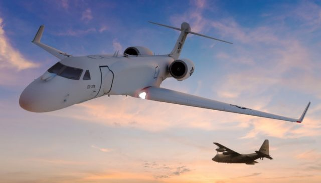 G550 with a Compass Call electronic warfare suite
