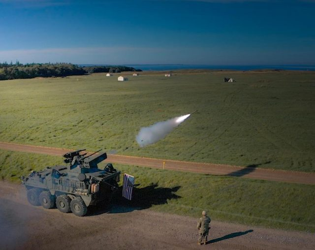 M-SHORAD live fire in Germany