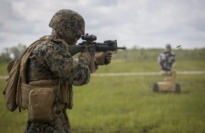 robot target used by US Marines